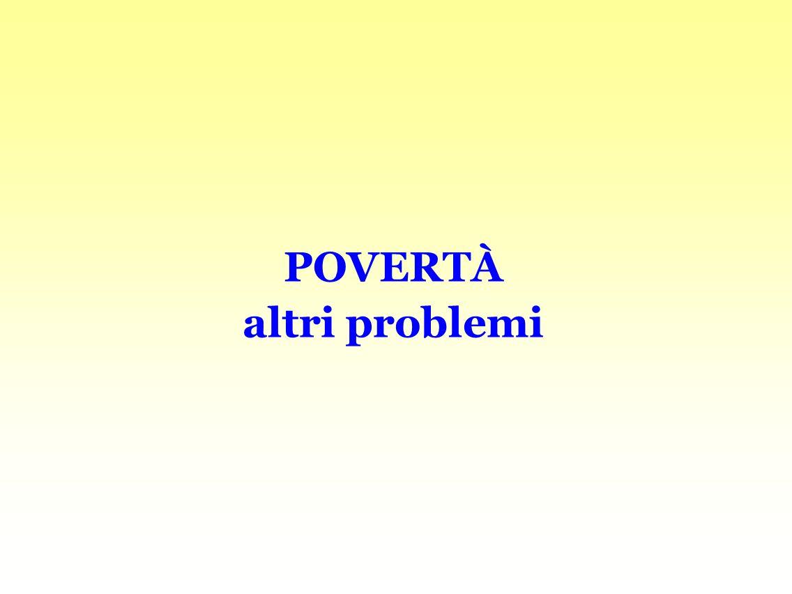 POVERTÀ altri problemi