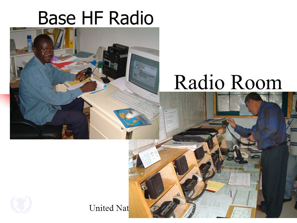United Nations - World Food Programme Radio Room Base HF Radio
