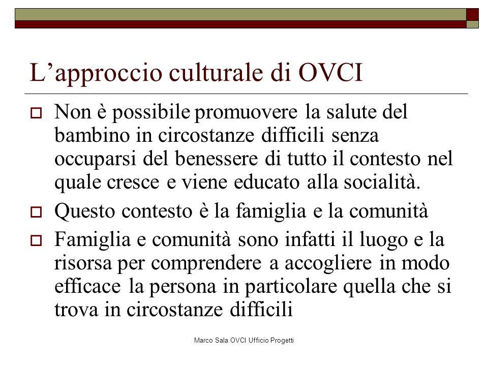 Marco Sala OVCI Ufficio Progetti Lapproccio culturale di OVCI Non è possibile promuovere la salute del bambino in circostanze difficili senza occupars