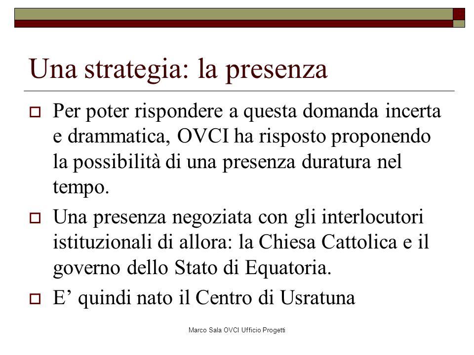 Marco Sala OVCI Ufficio Progetti Considerazione n.