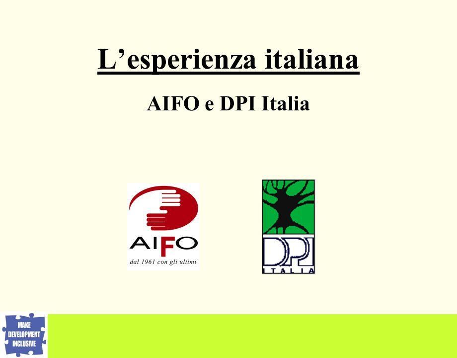 Lesperienza italiana AIFO e DPI Italia
