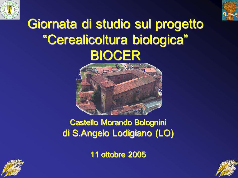 Giornata di studio sul progetto Cerealicoltura biologica BIOCER Castello Morando Bolognini di S.Angelo Lodigiano (LO) 11 ottobre 2005