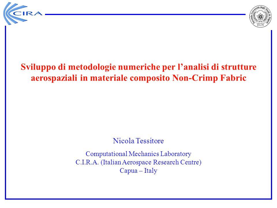 Nicola Tessitore Computational Mechanics Laboratory C.I.R.A. (Italian Aerospace Research Centre) Capua – Italy Sviluppo di metodologie numeriche per l