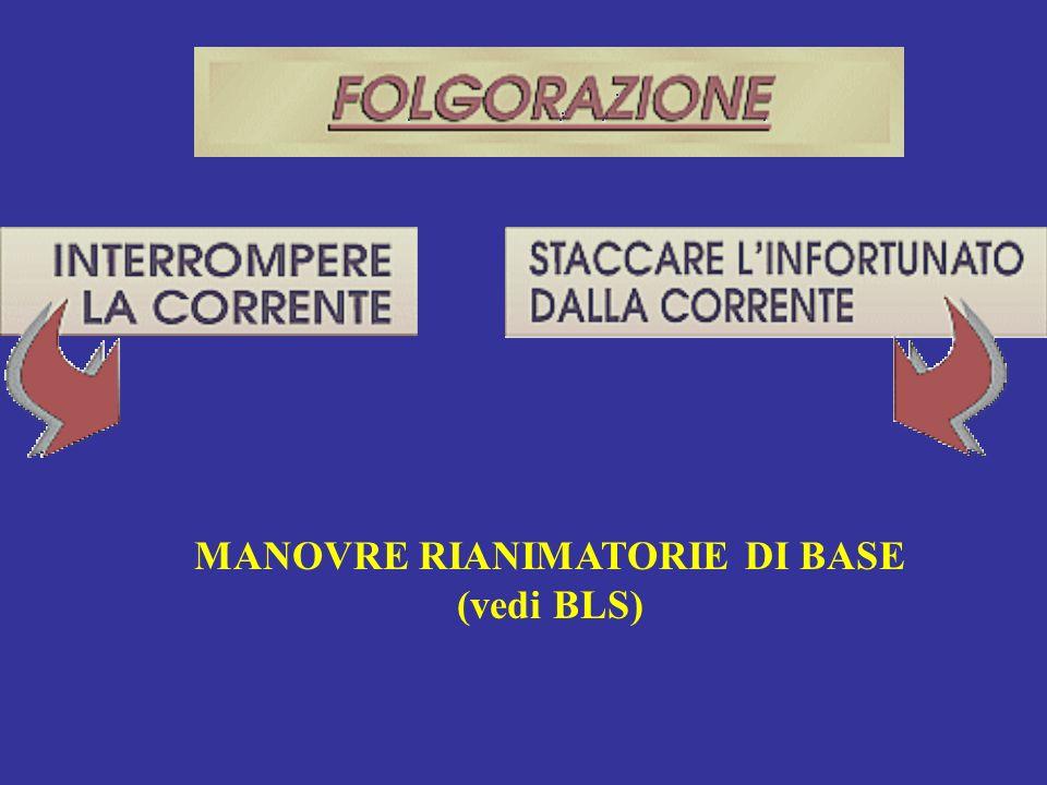 MANOVRE RIANIMATORIE DI BASE (vedi BLS)