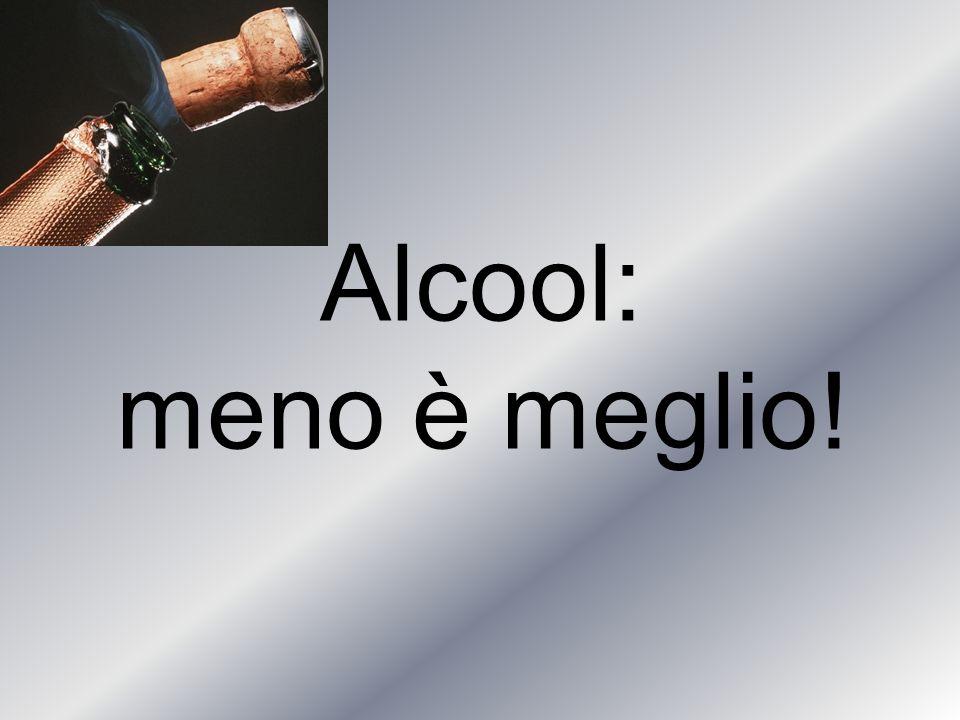 Alcool: meno è meglio!