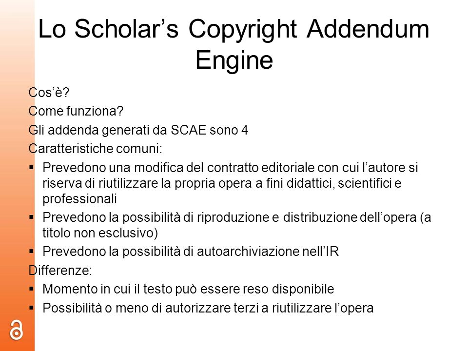 Lo Scholars Copyright Addendum Engine Cosè. Come funziona.