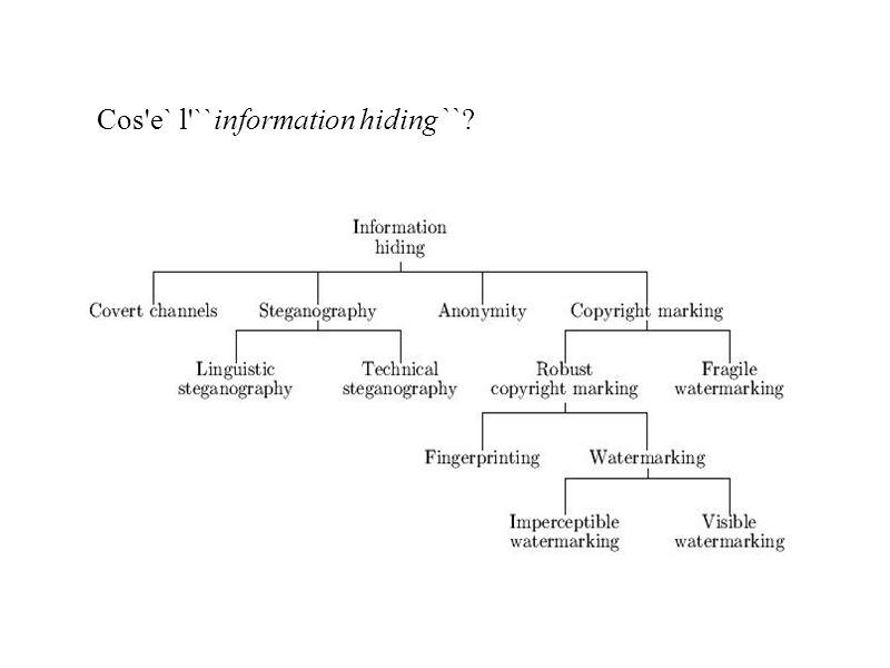 Cos e` l ``information hiding`` ?