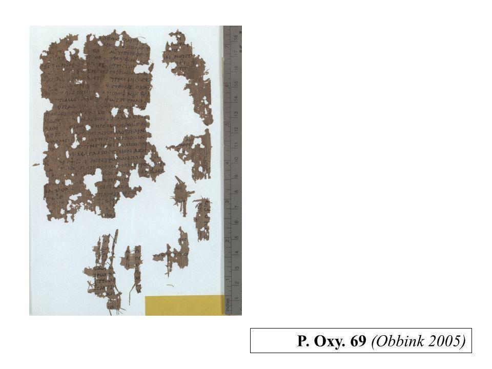 P. Oxy. 69 (Obbink 2005)