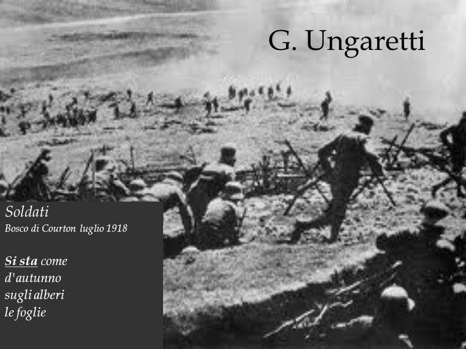 ungaretti soldati commento