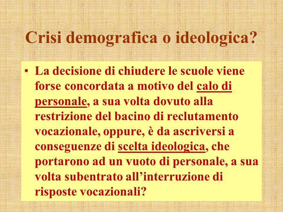 Crisi demografica o ideologica.