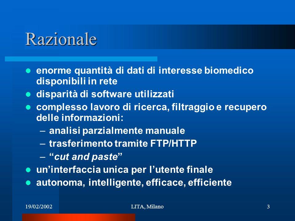 19/02/2002LITA, Milano14 Gruppo di lavoro Istituto Nazionale per la Ricerca sul Cancro, Genova (P.