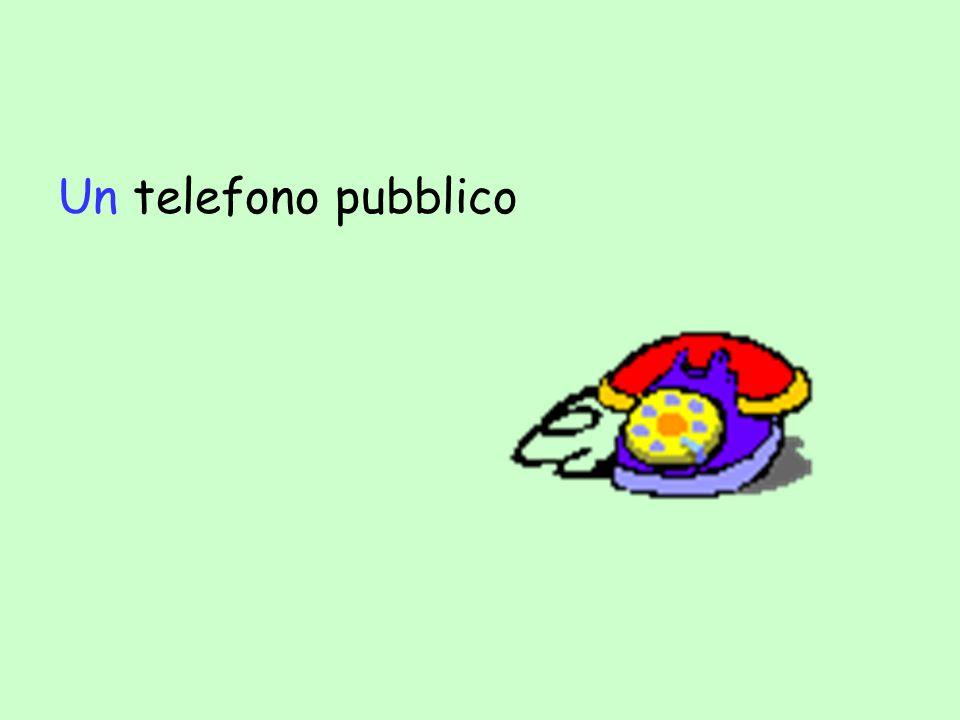 Un telefono pubblico