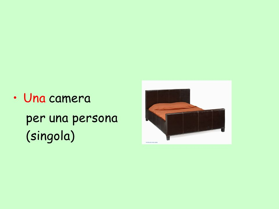 Una camera per una persona (singola)