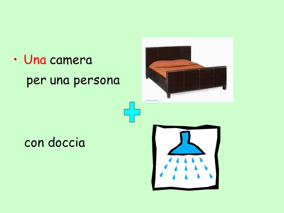 Una camera per una persona con doccia