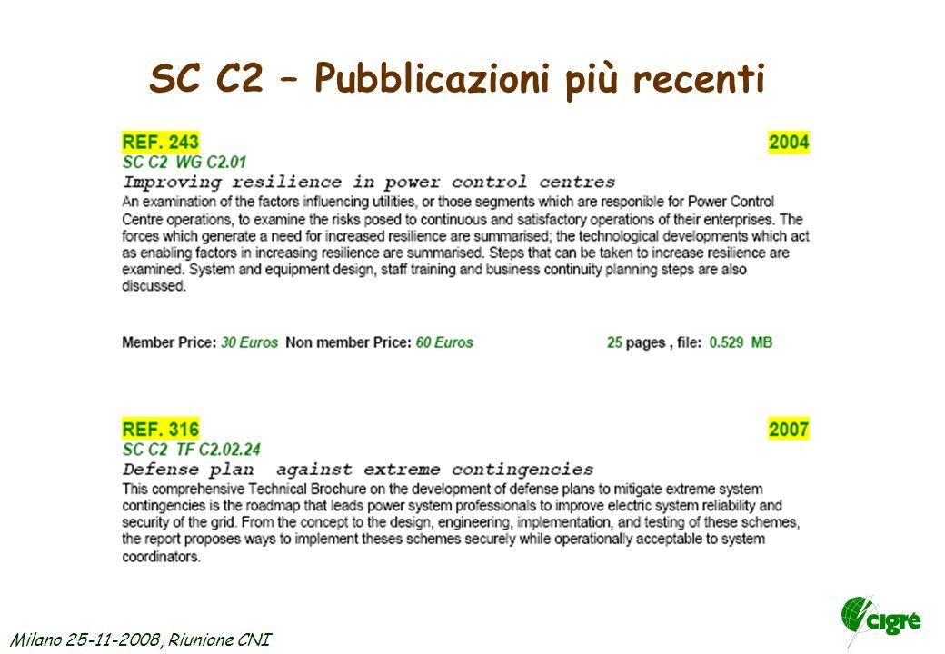Milano 25-11-2008, Riunione CNI SC C2 - Argomenti per nuove attività e futuri Working Groups JWG C1/C2/C6 Coping with Limits for High Penetration of R