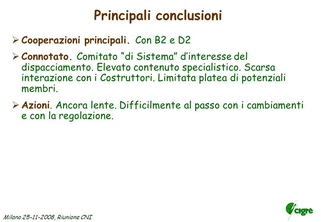 Milano 25-11-2008, Riunione CNI SC C2 – Prossime riunioni ed Eventi dinteresse C1/C2/C5: Operation and Development of Power Systems in the New Context