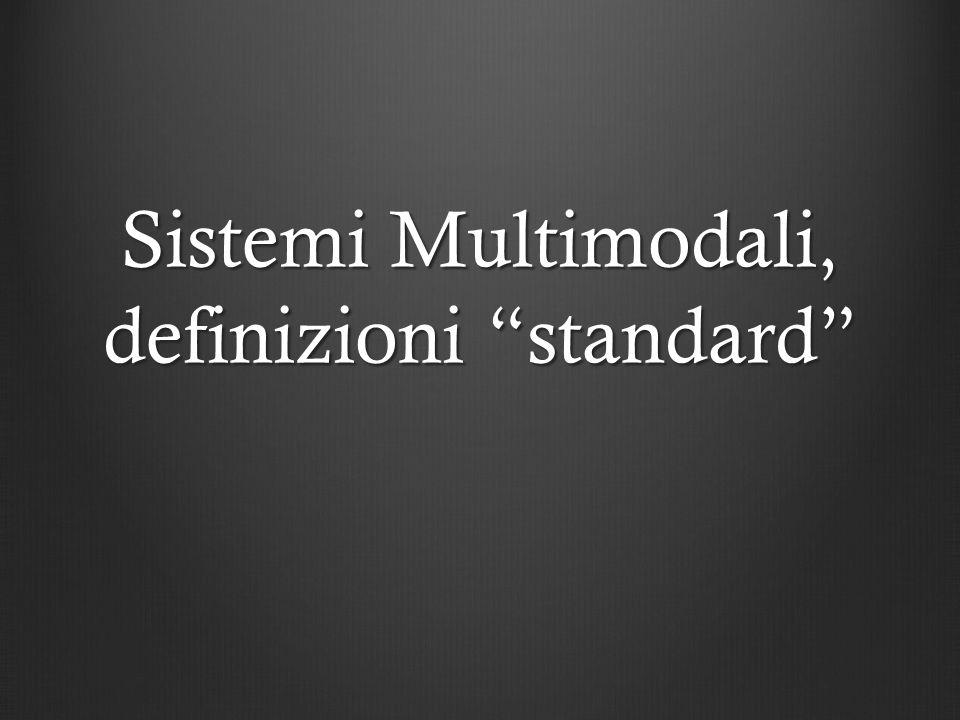 Sistemi Multimodali, definizioni standard