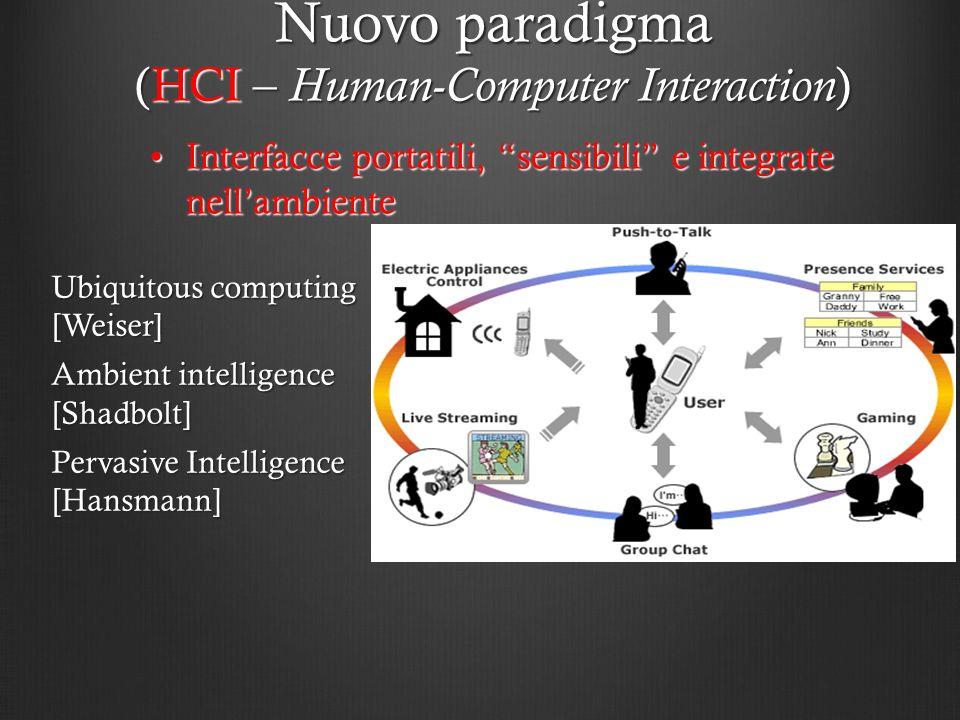 Interfacce portatili, sensibili e integrate nellambienteInterfacce portatili, sensibili e integrate nellambiente Nuovo paradigma (HCI – Human-Computer