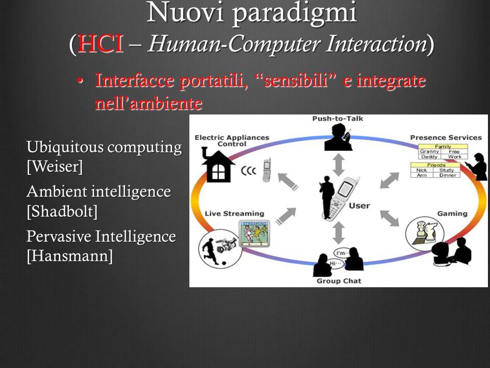 Interfacce portatili, sensibili e integrate nellambienteInterfacce portatili, sensibili e integrate nellambiente Nuovi paradigmi (HCI – Human-Computer