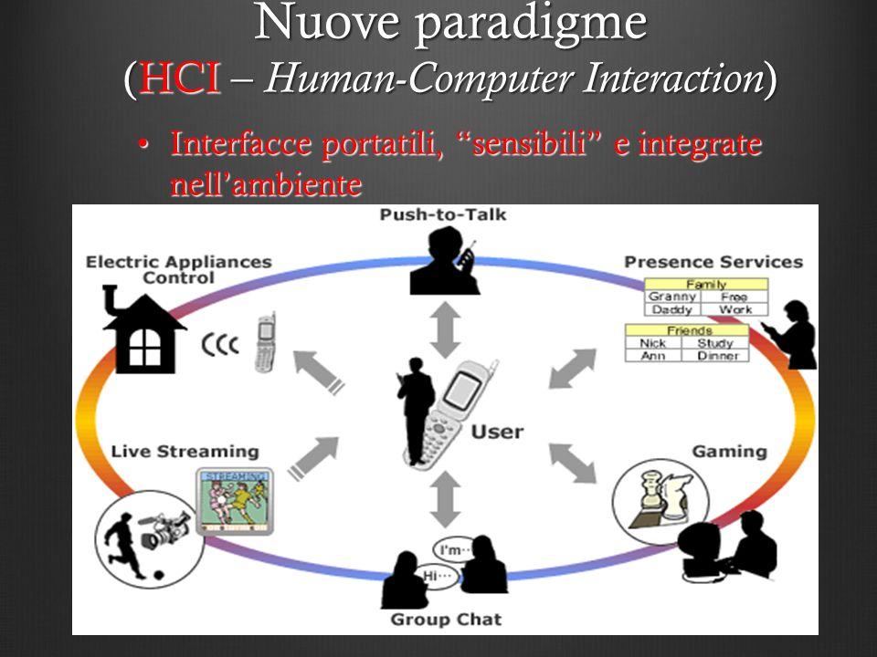 Interfacce portatili, sensibili e integrate nellambienteInterfacce portatili, sensibili e integrate nellambiente Nuove paradigme (HCI – Human-Computer