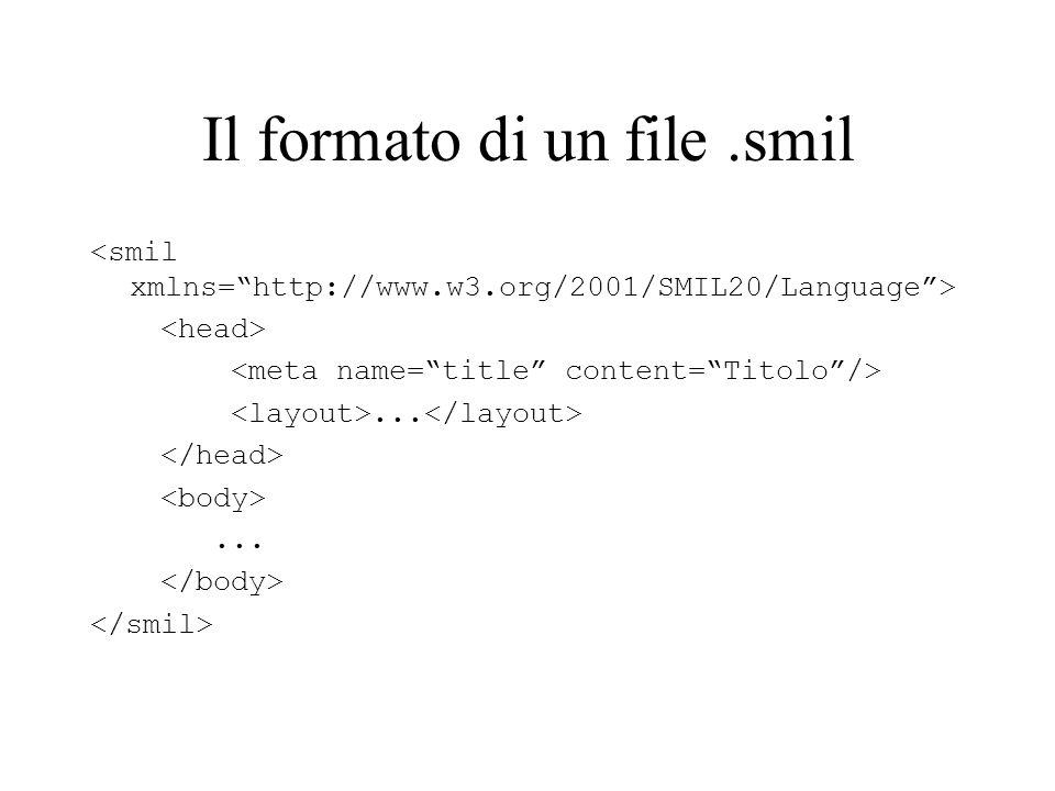 Il formato di un file.smil......
