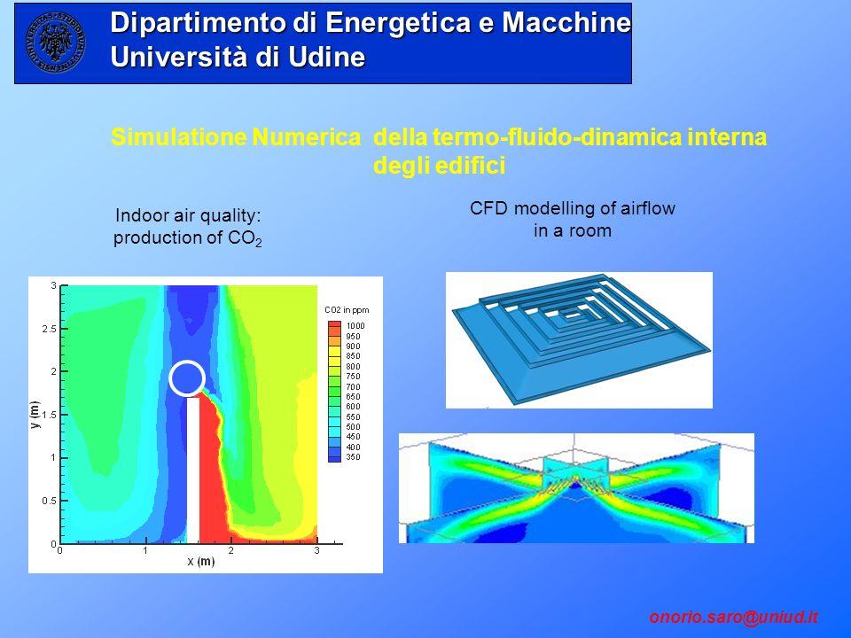 onorio.saro@uniud.it Simulatione Numerica della termo-fluido-dinamica interna degli edifici Indoor air quality: production of CO 2 CFD modelling of ai