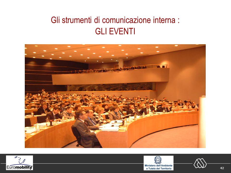 42 Gli strumenti di comunicazione interna : GLI EVENTI