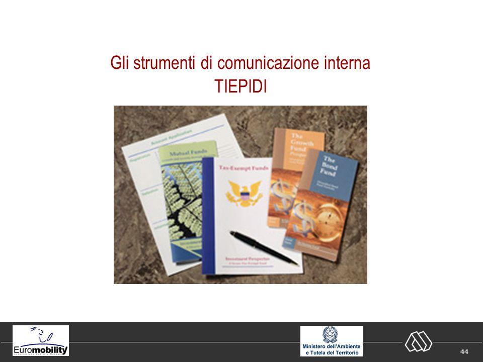44 Gli strumenti di comunicazione interna TIEPIDI