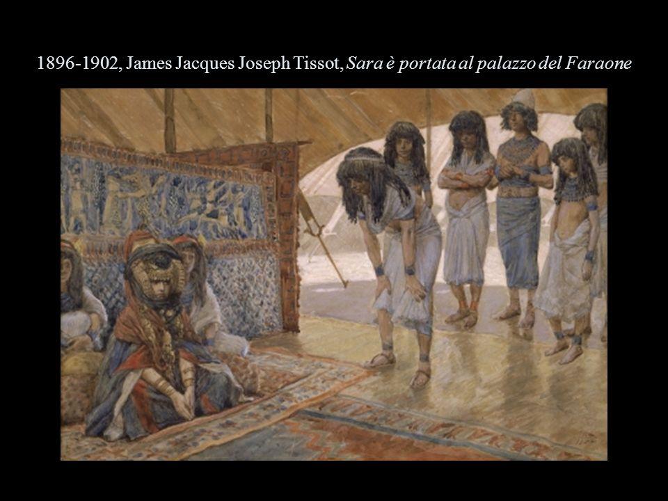 1896-1902, James Jacques Joseph Tissot, Sara è portata al palazzo del Faraone