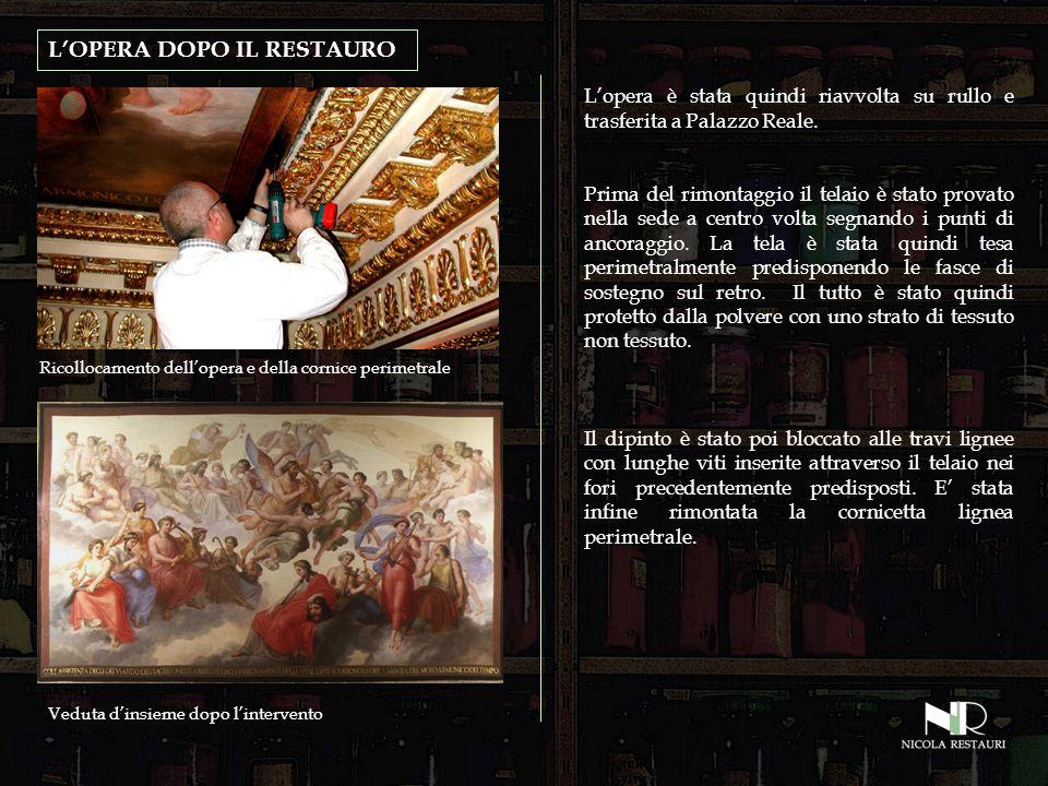LOPERA DOPO IL RESTAURO Lopera è stata quindi riavvolta su rullo e trasferita a Palazzo Reale.
