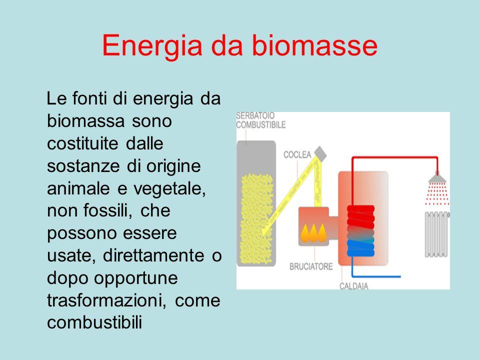 Energia geotermica La centrale geotermica sfrutta il calore della terra per portare lacqua allo stato di vapore e mettendo così in moto una turbina.