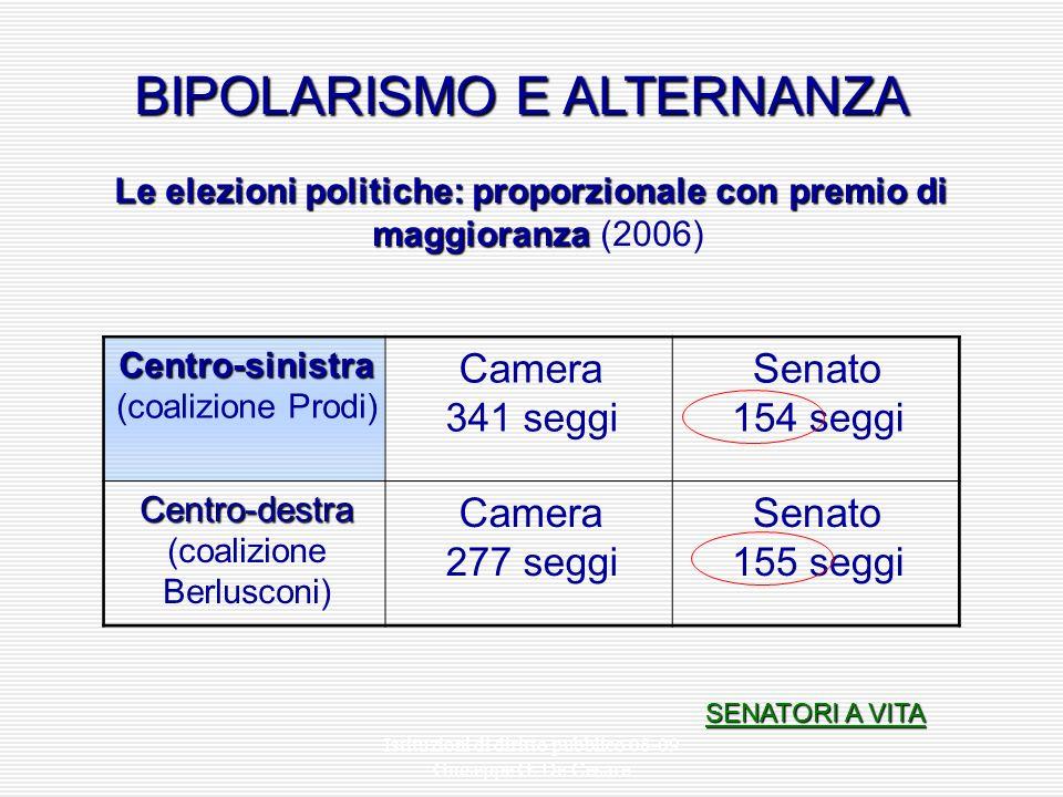 Istituzioni di diritto pubblico 08-09 Giuseppe G. De Cesare Legge 270/2005 Legge 270/2005 (modifiche alle leggi elettorali della Camera e del Senato)
