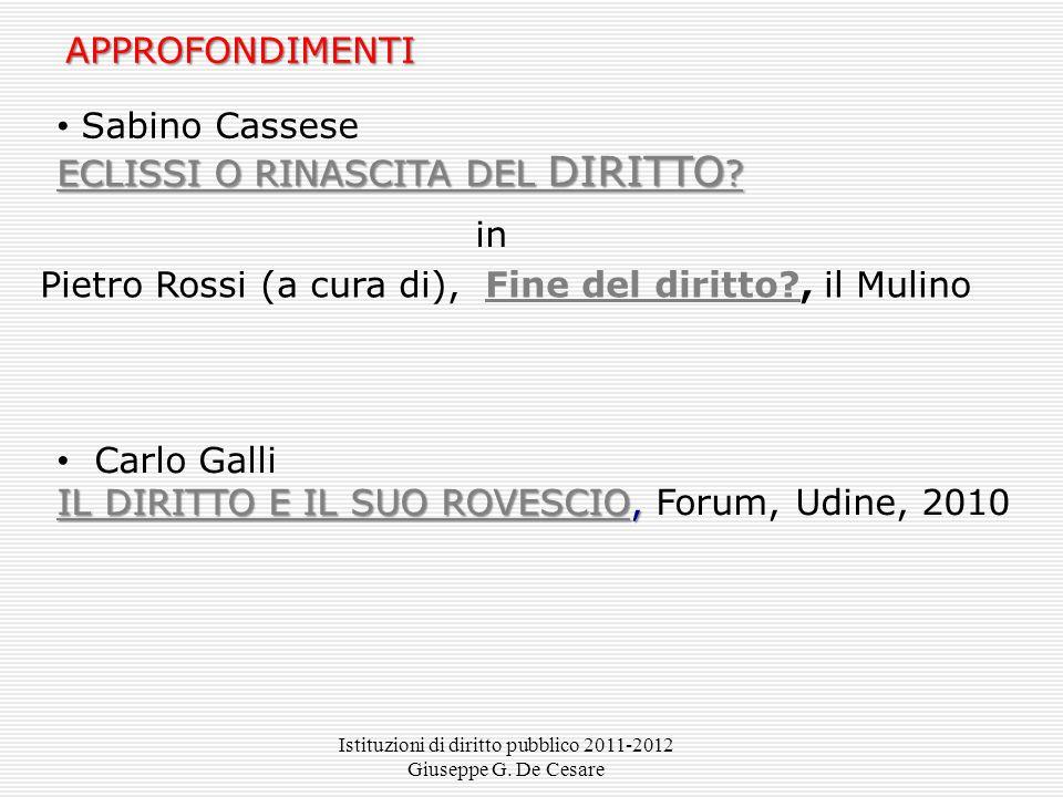 Sabino Cassese ECLISSI O RINASCITA DEL DIRITTO .ECLISSI O RINASCITA DEL DIRITTO .