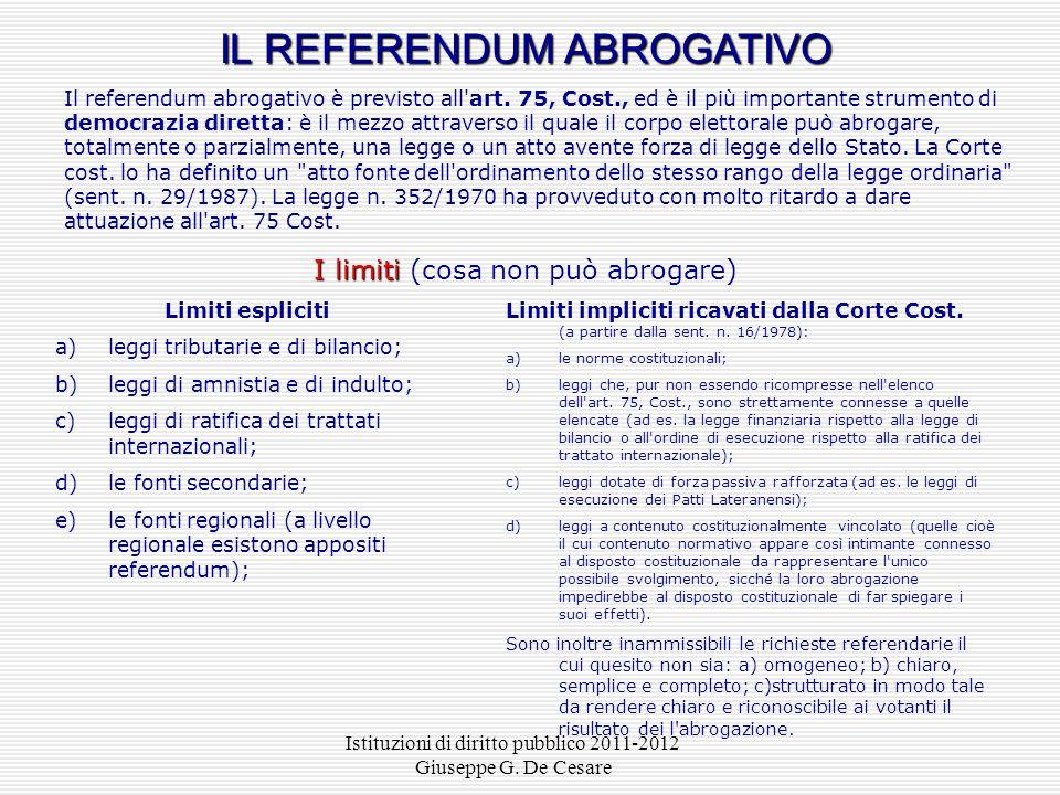 Istituzioni di diritto pubblico 2011-2012 Giuseppe G. De Cesare IL PROCEDIMENTO DI PRODUZIONE NORMATIVA PER DECRETO LEGGE Presidente della Repubblica