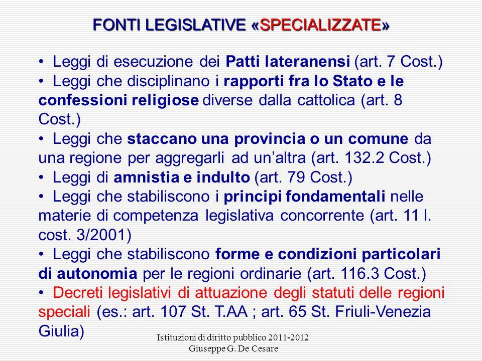 Istituzioni di diritto pubblico 2011-2012 Giuseppe G. De Cesare Dopo la votazione l'Ufficio centrale per il referendum accerta, ai sensi dell'art. 75,