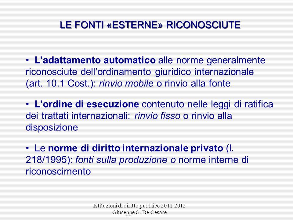 Istituzioni di diritto pubblico 2011-2012 Giuseppe G. De Cesare I contratti collettivi di lavoro ex art. 39 Cost. I contratti collettivi di lavoro di