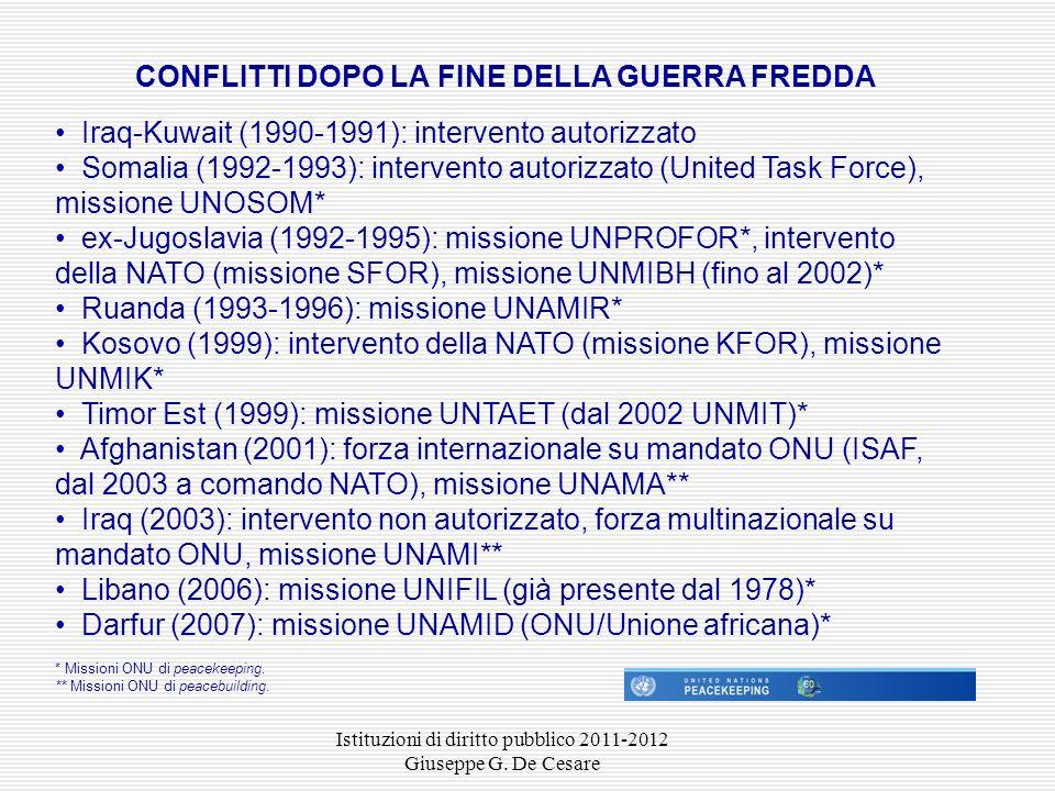 Istituzioni di diritto pubblico 2011-2012 Giuseppe G.
