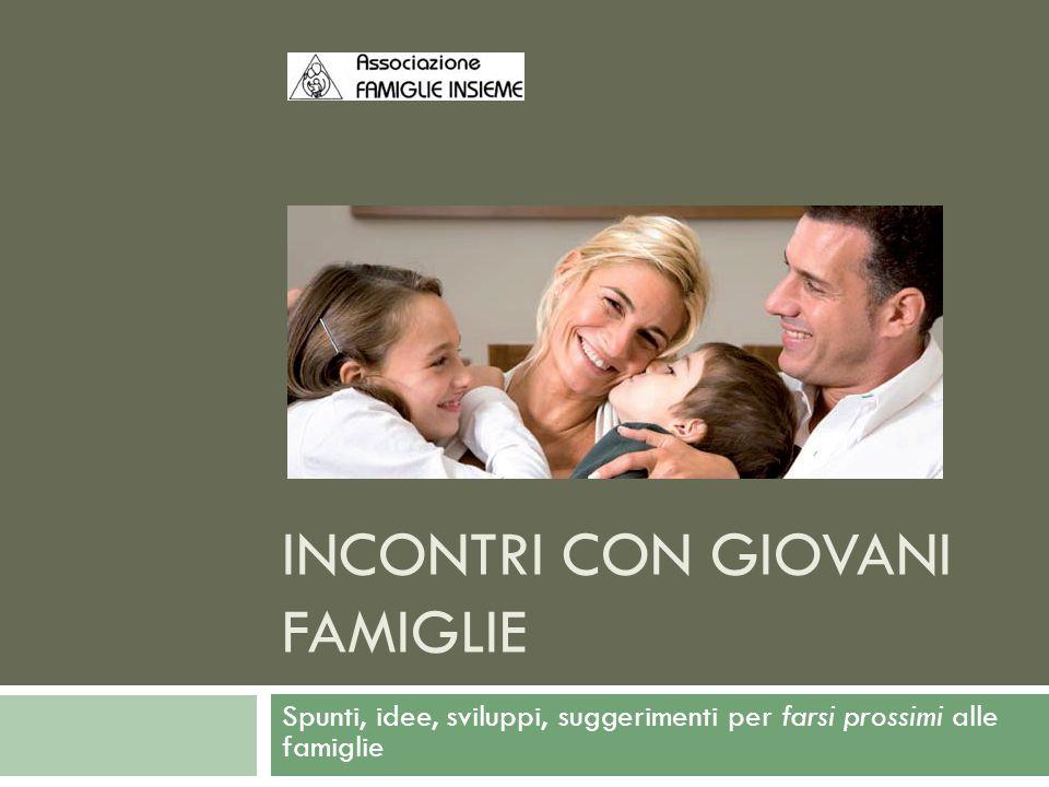 INCONTRI CON GIOVANI FAMIGLIE Spunti, idee, sviluppi, suggerimenti per farsi prossimi alle famiglie