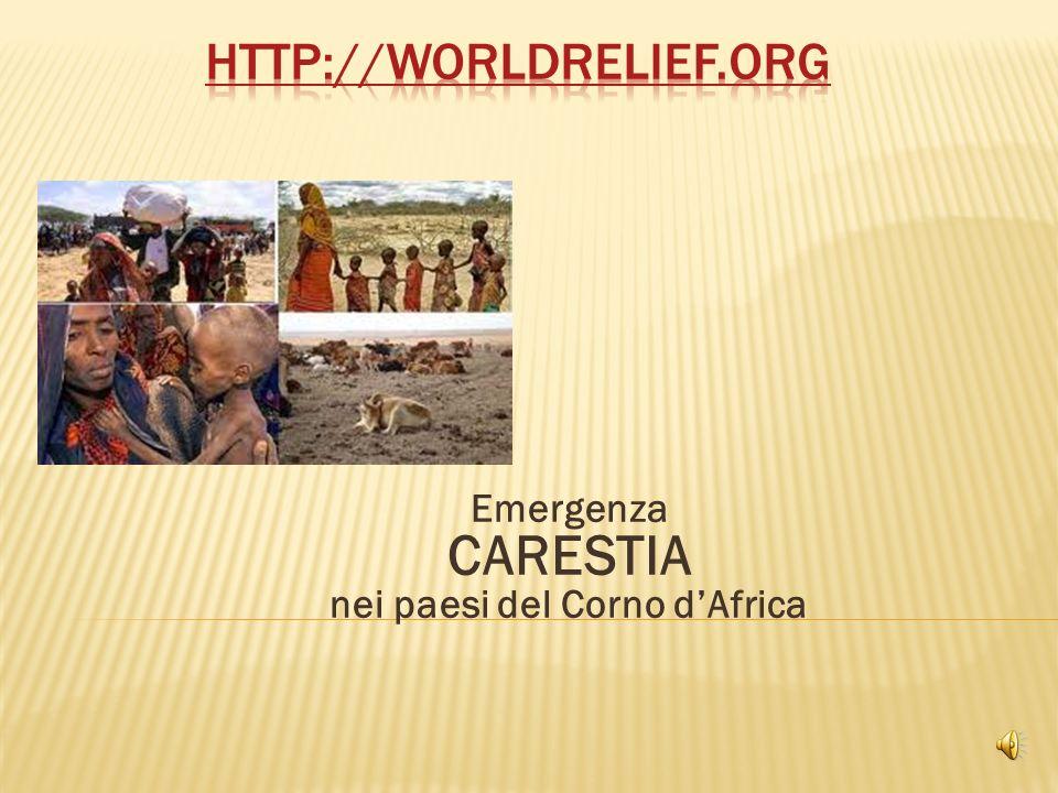 Emergenza CARESTIA nei paesi del Corno dAfrica