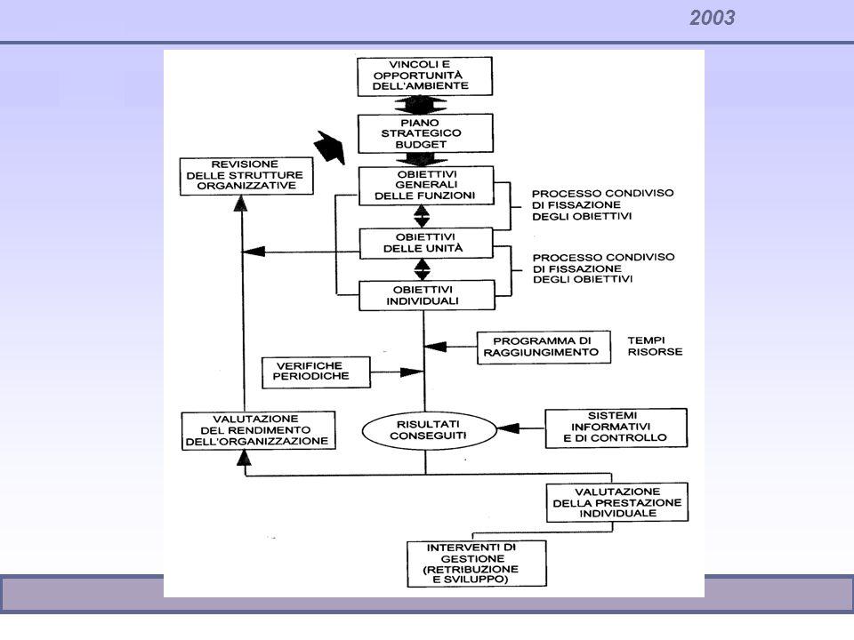 Le politiche retributive e lincentivazione la Direzione per obiettivi DPO: –Sempre a livello individuale una modalità d incentivazione basata sui risultati è data dalla direzione per obiettivi.