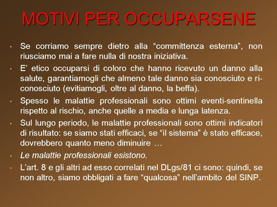 linfomi non-Hodgkin incidenza complessiva 2001-2005 età 35-69 fonte: OCCAM SDO 2007 (dati da sottoporre a verifica) 418 casi tra le donne 595 casi tra gli uomini Tumori professionali nelle Marche ?