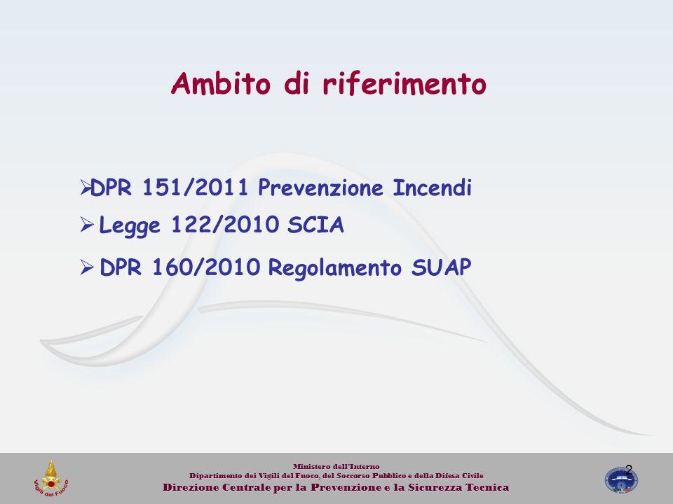 2 Ministero dellInterno Dipartimento dei Vigili del Fuoco, del Soccorso Pubblico e della Difesa Civile Direzione Centrale per la Prevenzione e la Sicu