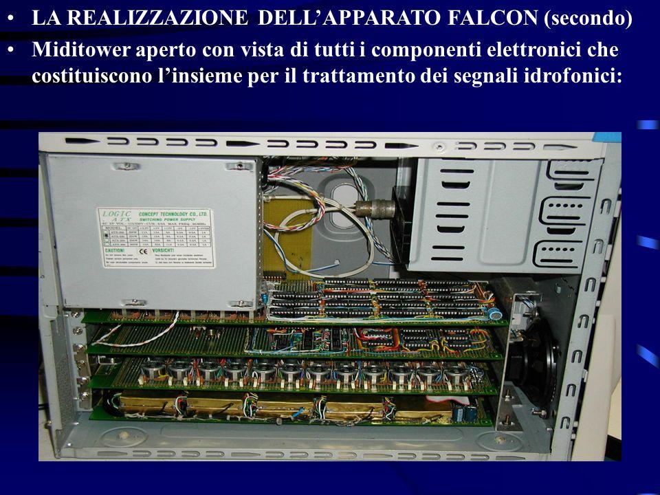 LA REALIZZAZIONE DELLAPPARATO FALCON (secondo) Miditower aperto con vista di tutti i componenti elettronici che costituiscono linsieme per il trattame