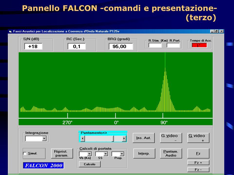 Pannello FALCON -comandi e presentazione- (terzo)