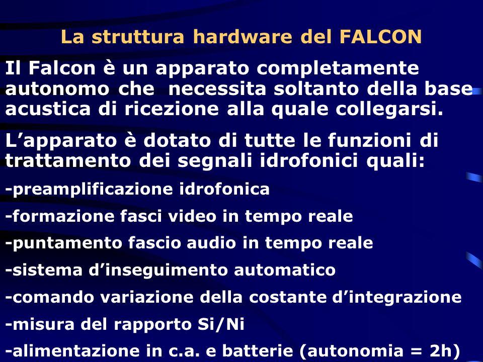 La struttura hardware del FALCON Il Falcon è un apparato completamente autonomo che necessita soltanto della base acustica di ricezione alla quale col