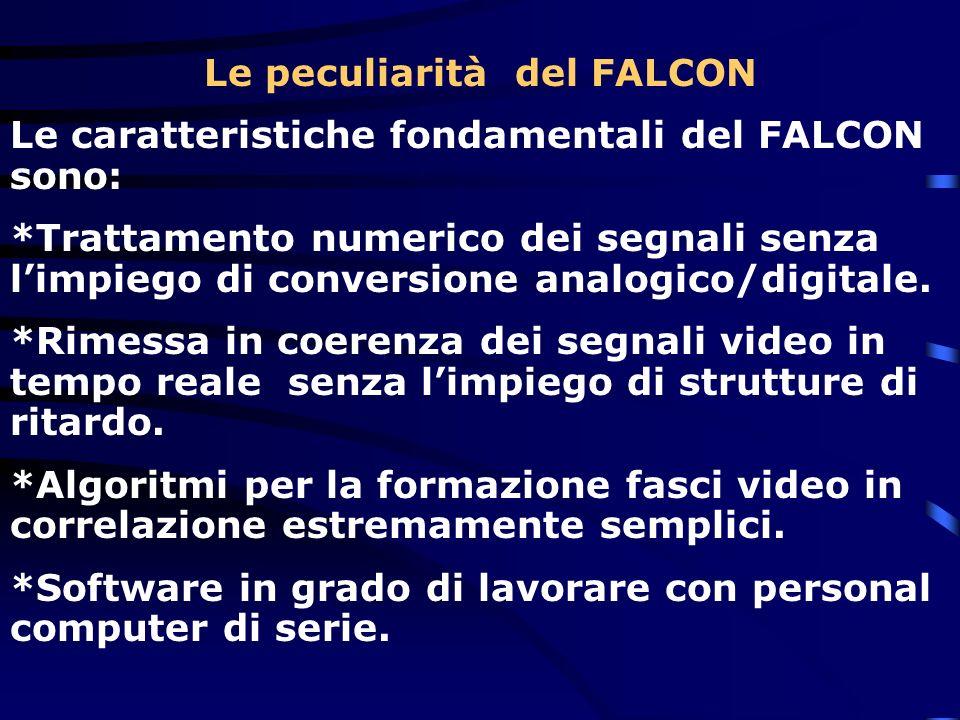 Le peculiarità del FALCON Le caratteristiche fondamentali del FALCON sono: *Trattamento numerico dei segnali senza limpiego di conversione analogico/d