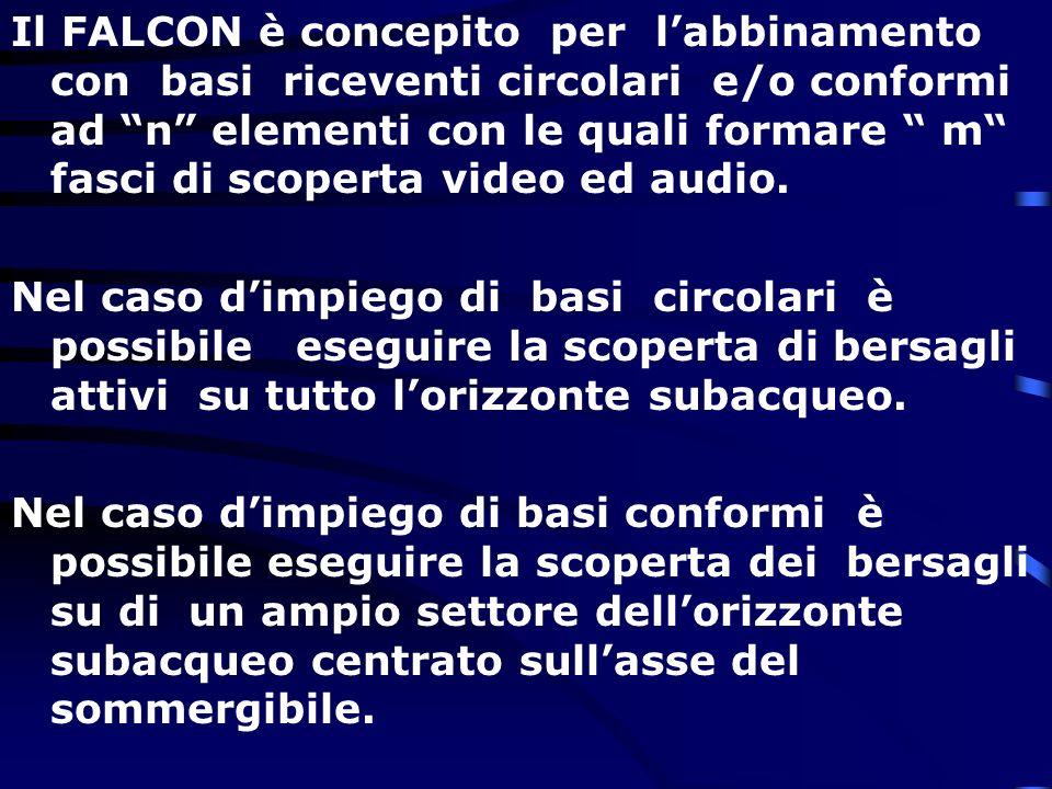 Il FALCON è concepito per labbinamento con basi riceventi circolari e/o conformi ad n elementi con le quali formare m fasci di scoperta video ed audio