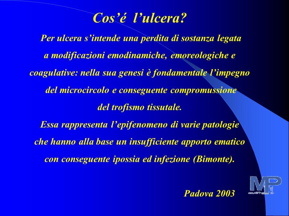 DATI STATISTICI In Italia l'1-3% della popolazione, con punte del 5% nei soggetti oltre i 60 anni presenta lesioni degli arti inferiori. Le sedi più c