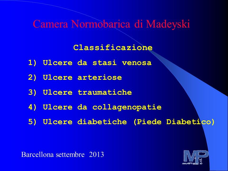 Classificazione 1) Ulcere da stasi venosa 2) Ulcere arteriose 3) Ulcere traumatiche 4) Ulcere da collagenopatie 5) Ulcere diabetiche (Piede Diabetico)