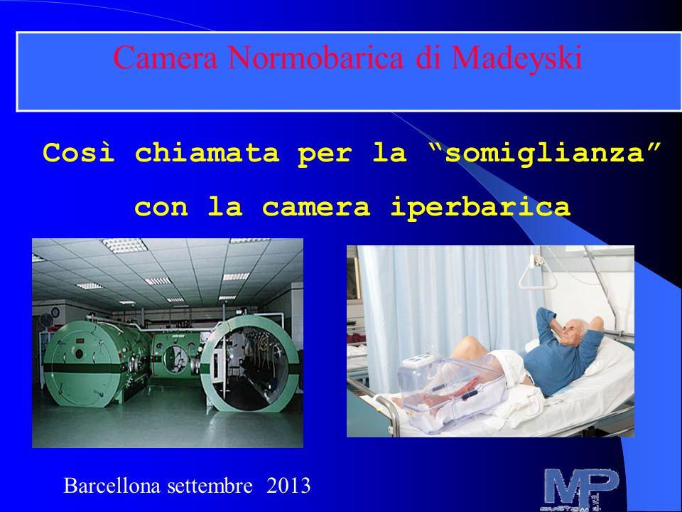 Così chiamata per la somiglianza con la camera iperbarica. Camera Normobarica di Madeyski Barcellona settembre 2013